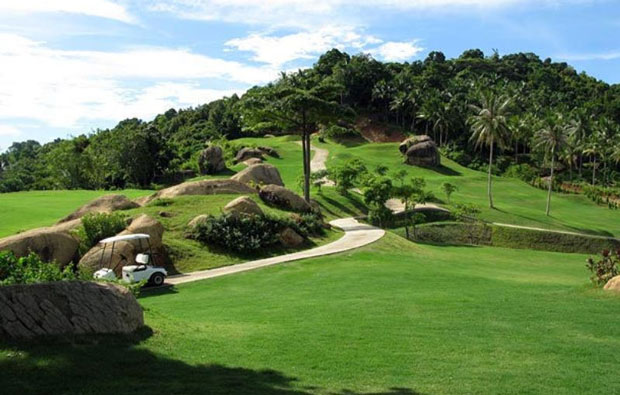 View over Royal Samui Golf Country Club