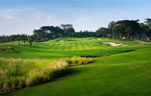 walking along the fairways,  royale jakarta golf club, jakarta, indonesia