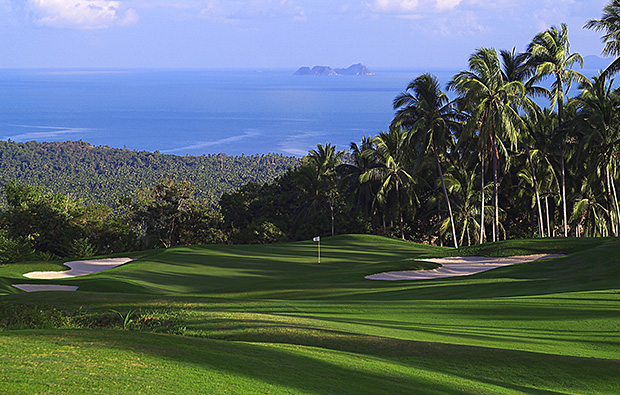 view over santiburi samui golf club, samui, thailand