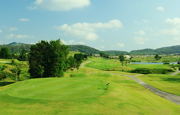 view from tee box, silky oak golf club , pattaya, thailand
