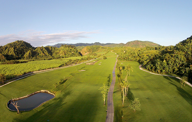 Aerial View Clark Sun Valley Golf Country Club, Clark, Philippines