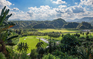 View to mountains at  Clark Sun Valley Golf Country Club, Clark, Philippines