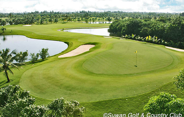 aerial view, suwan golf country club, bangkok, thailand