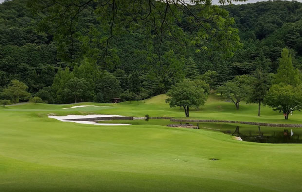 Taiheiyo Club Sano Hillcrest Course Water Hazard