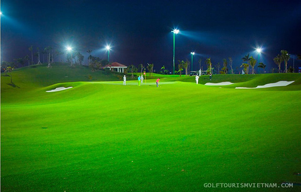 night golf, tan son nhat golf course, ho chi minh,vietnam