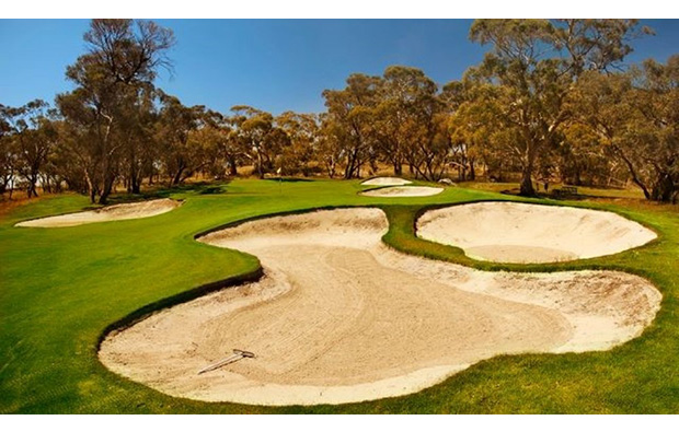 Large Bunkers Tanunda Pines Golf Club