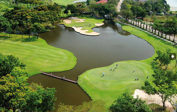 lake, thana city golf club, bangkok, thailand