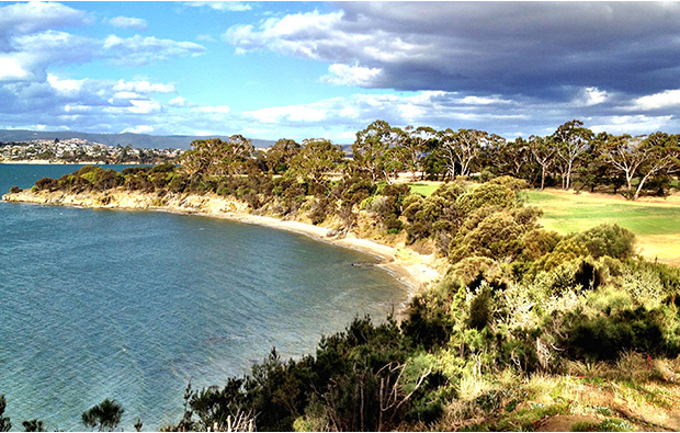 View across The Tasmanian Golf Club, Australia