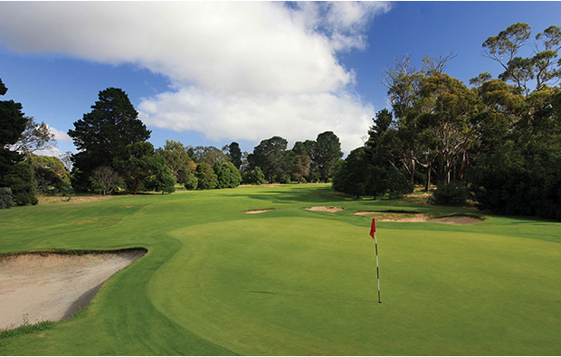 Another green Royal Hobart Golf Club, Tasmania, Australia