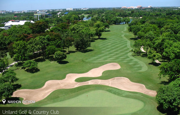 aerial view Uniland Golf Country Club, Bangkok, Thailand