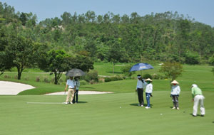 Golf course in Vietnam