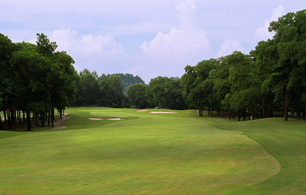 fairway, kings island country club mountainview course, hanoi, vietnam