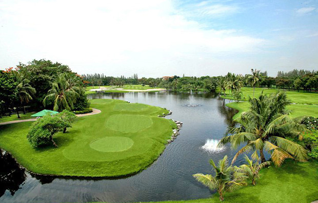 aerial view, windsor park golf club, bangkok, thailand