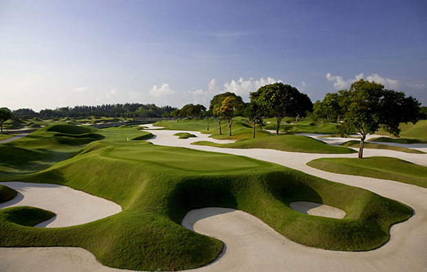 Behind 12th green at Laguna National World Classic Course, Singapore