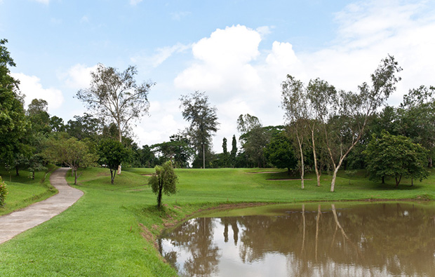 Yangon Golf Club water hazard