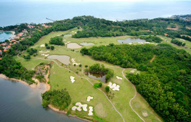aerial view Tamarin Santana Golf Club , Batam, Indonesia