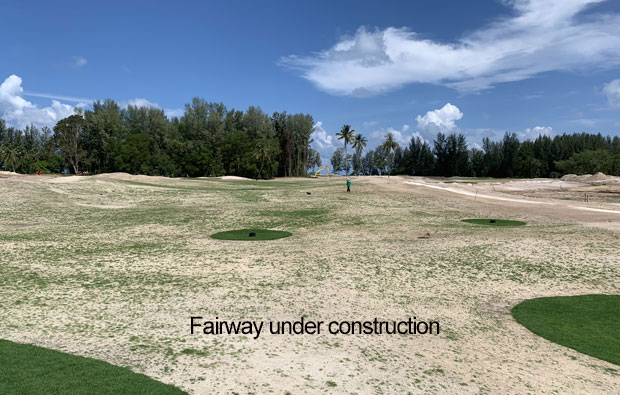 Aquella Golf Resort Country Club Fairway Under Construction