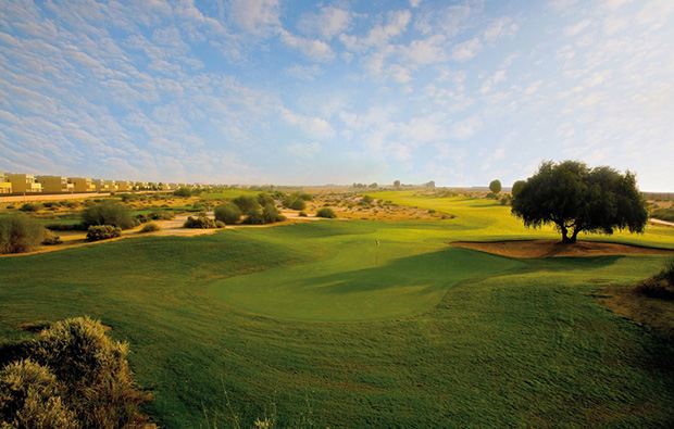 green, arabian ranches golf course, dubai, united arab emirates