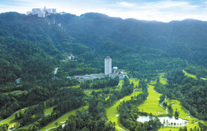 aerial view of awana genting highlands golf resort