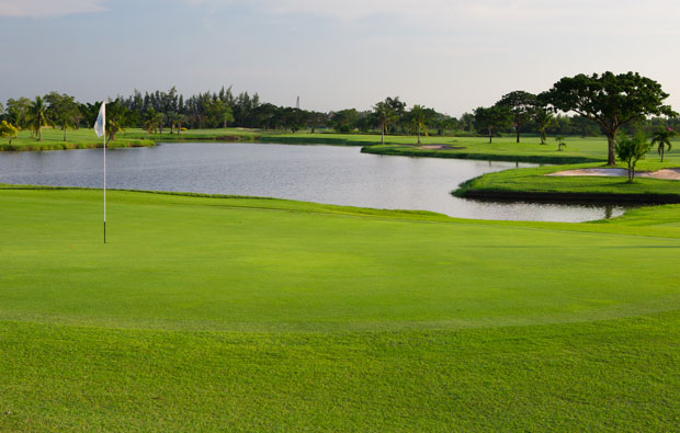 bunker at bangkapong riverside country club, bangkok, thailand