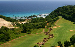 Aerial View Fairways Bluewater Resort Golf Club, Boracay, Philippines