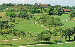 view of course bukit unggul country club