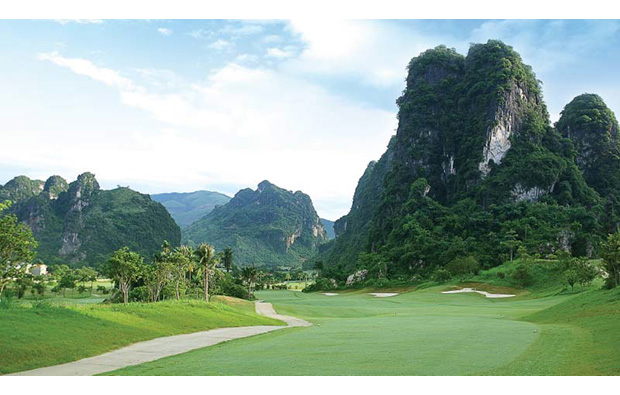 spectacular scenery around phoenix golf resort, hanoi, vietnam