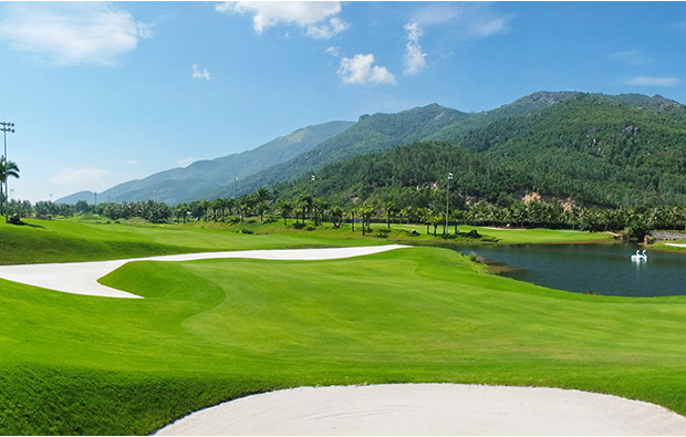 view to mountains diamond bay golf resort, nha trang, vietnam