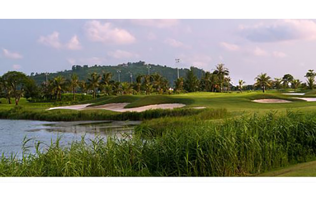 fairway at brg ruby tree golf resort at hanoi vietnam