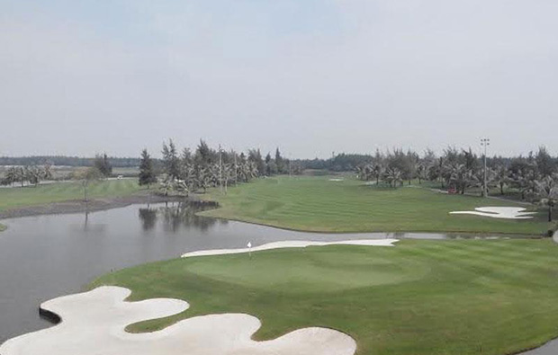aerial view at brg ruby tree golf resort at hanoi vietnam