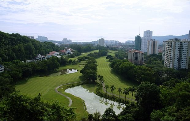 view to bridge penang golf club, penang