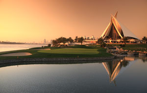 stunning clubhouse, dubai creek golf club, dubai, united arab emirates