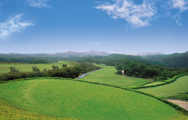 aerial view at els course mision hills in guangdong, china