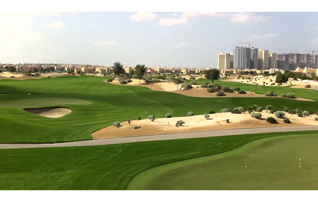 cityscape, the els club, dubai, united arab emirates