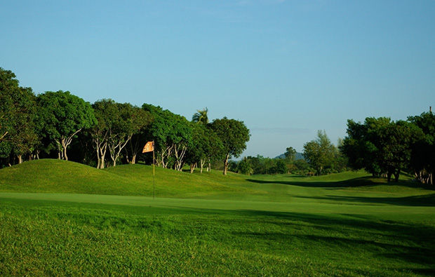 back down fairway, emerald golf club, pattaya, thailand
