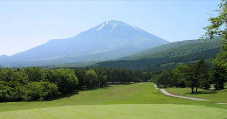 Looking towards Mount Fuji at Fujikogen Golf Course