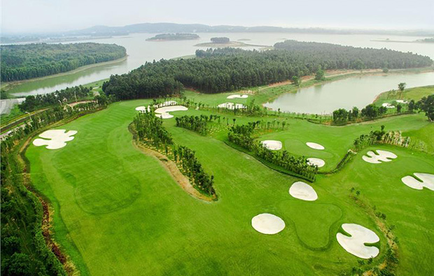 aerial view, dai lai star golf club, hanoi, vietnam