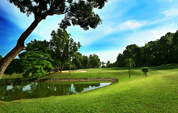 view to green, vietnam golf club, ho chi minh, vietnam