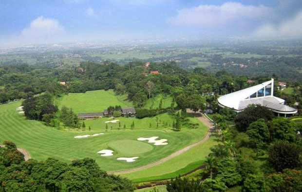 aerial view gunung geulis country club