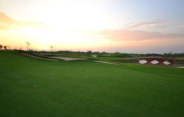 Hariphunchai Golf Club at Dusk