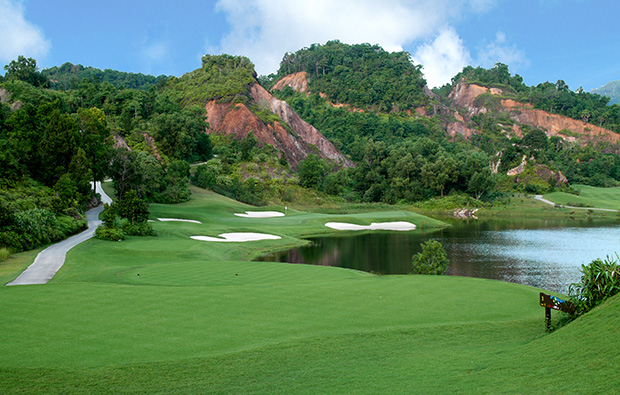 14th hole red mountain golf club, phuket