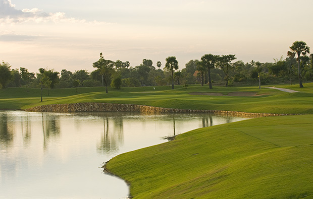 12th hole angkor golf resort, siem reap, cambodia