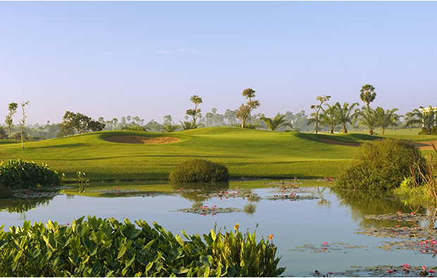 9th hole angkor golf resort, siem reap, cambodia