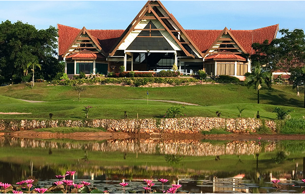 club house at indah puri golf resort, batam, indonesia