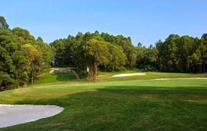 view to green, kings island country club mountain view course, hanoi, vietnam
