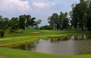 view over lake, kings island country club lakeside course, hanoi, vietnam