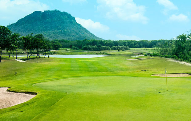 Green, imperial lake view golf club, hua hin, thailand