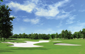large bunker, lakewood country club, bangkok, thailand