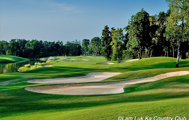 bunkers at lam lukka country club, bangkok, thailand