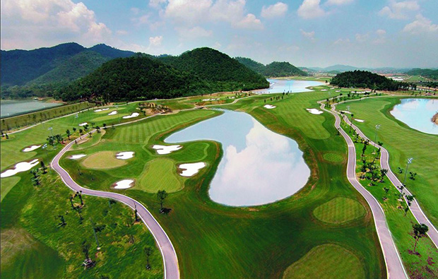 aerial view, legend hill golf resort, hanoi, vietnam